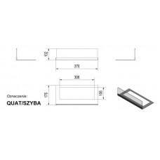 Стекло для биокамина Quat (комплект стекло и подставка)