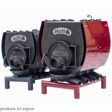 Печь булерьян отопительно варочная  со стеклом Hott (Хотт) Тип-03 -600 м3