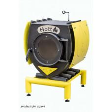 Печь Hott (хотт) с варочной поверхностью с большим стеклом, кожухом и подставкой  «00» -6 кВт-100 м3