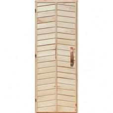 Деревянная дверь глухая для сауны Украина 80х210 липа высший сорт