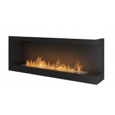 Биокамин Simple Fire Corner 1200 R со стеклом