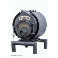 Булерьян печь Hott (Хотт) классический 01 + стекло+ кожух - 200м3