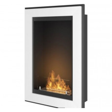 Биокамин Simple Fire Frame 550 белый со стеклом