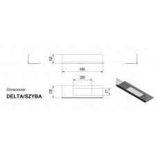 Стекло для биокамина Delta (комплект стекло и подставка)