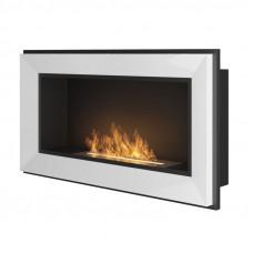 Биокамин Simple Fire Frame 900 белый со стеклом