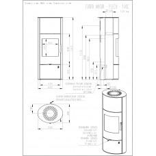 Аккумуляционная печь-камин Evora 03 Akkum (сталь)