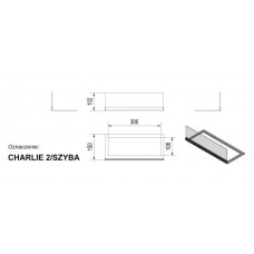 Стекло для биокамина Charlie 2 (комплект стекло и подставка)