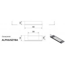 Стекло для биокамина Alpha (комплект стекло и подставка)
