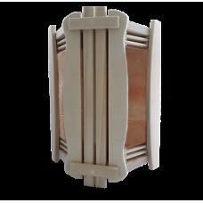 Ограждение светильника солевое на 2 плитки для бани и сауны