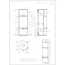 Аккумуляционная печь-камин Soria 03 (сталь)