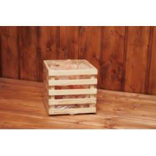 Корзинка Кубик Greus с гималайской солью 4,5 кг для бани и сауны