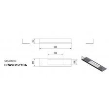Стекло для биокамина Bravo  (комплект стекло и подставка)