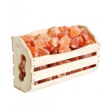 Гималайская розовая соль Корзина прямая 4,5 кг для бани и сауны