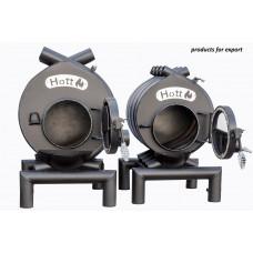 Булерьян печь Hott (Хотт) классический 01 + стекло- 200м3