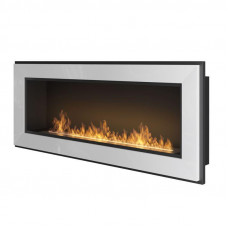 Биокамин Simple Fire Frame 1200 серый со стеклом